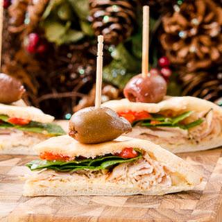 Mediterranean Turkey Pita Bites