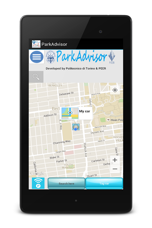 ParkAdvisor- screenshot
