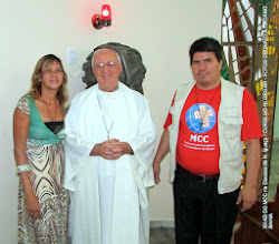 Photo: XII AD DO MCC na Diocese de N. Iguaçu.   Coordenadora do GED NI  e vice com  o Bispo Diocesano.