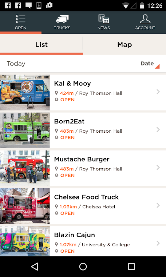 Food Trucks- screenshot