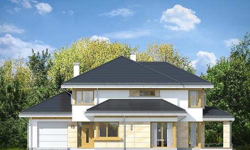Dom z widokiem 5 - Elewacja przednia