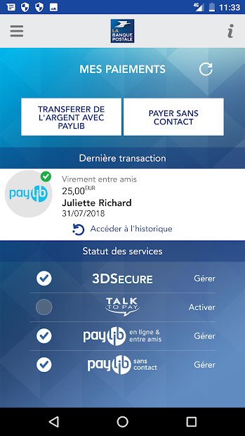 Mes Paiements Android App Screenshot