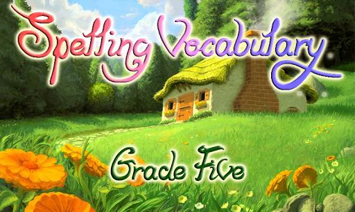 Vocabulary Spelling 5th grade