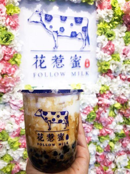 獨特包裝黑糖珍珠羊奶飲品,讓媽媽瞬間少女心噴發的『花惹蜜』