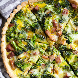 Savory Tart with Ham and Broccoli {Paleo}.