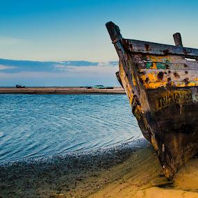 Remainings -7 by Vijayanand Kandasamy - Transportation Boats ( wreck, manapadu, manapad, decayed, boat,  )