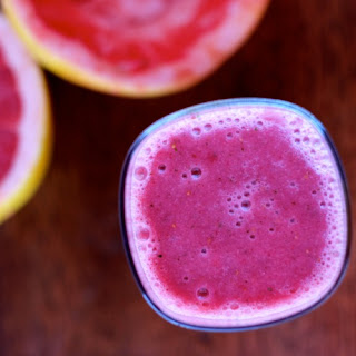 Grapefruit Berry Mint Smoothie.