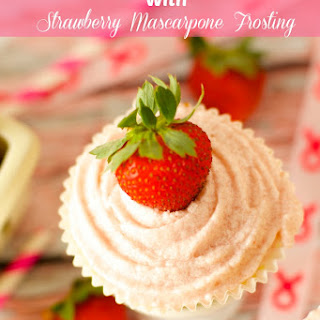 Vanilla Cupcakes with Strawberry Mascaporne Frosting Recipe