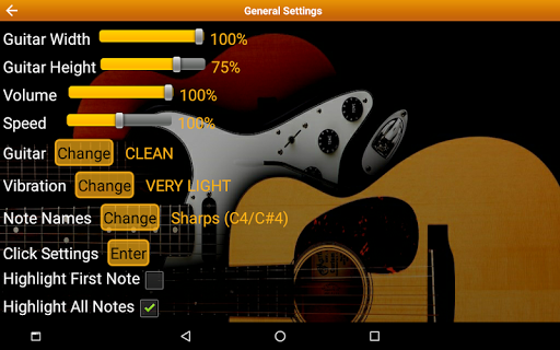 Guitar Scales & Chords Free Added Sustain option screenshots 24