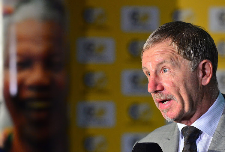 Stuart Baxter, coach of South Africa during the Cosafa Cup launch and draw at SAFA House, Johannesburg on 18 April 2018.