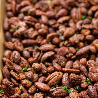 Savory Barbecue Roasted Mixed Nuts.