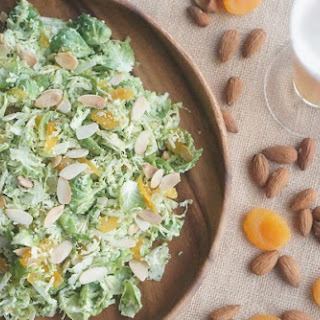 [RECIPE] Brussels Sprout, Apricot & Beer Pesto Slaw