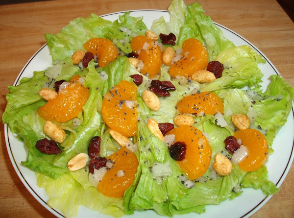 Mandarin Orange Salad With Peanuts Recipe