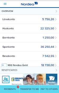Nordea Mobile Bank – Sweden- screenshot thumbnail