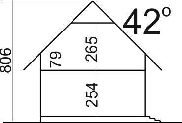 Domek Ciepły szkielet drewniany 012 BD - Przekrój
