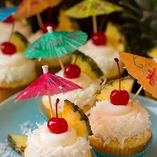 Piña Colada Cupcakes.