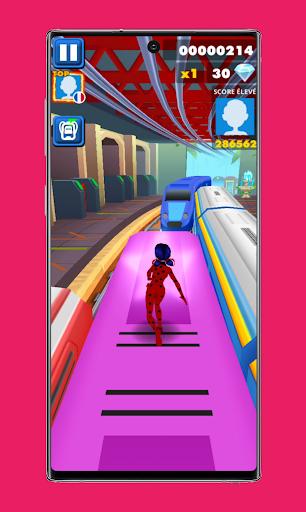 subway Lady Endless jump V3: cat runner noir jogos apktram screenshots 2