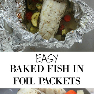 Easy Baked Fish in Foil Packets