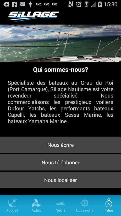 Sillage Nautisme- screenshot