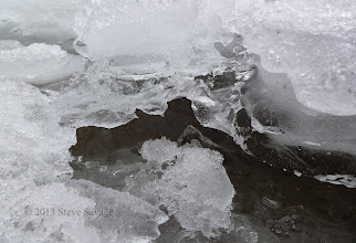 Photo: Detail of the ice.