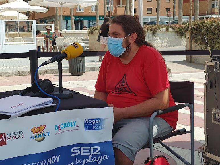 El organizador del 'Happy Moy Fest', Moisés Belmonte, en el set de La SER