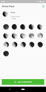 MOON Stickers for WhatsApp Screenshot
