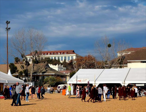 PROFITABLE PLACE: The popular Village Green at the National Arts Festival Picture: SUPPLIED
