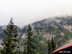 Photo: On the other side of the valley the Klondike highway is obvious here.