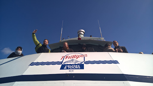 4 WP_20150805_13_46_58_Pro.jpg - Peanut gallery. Juha Alakarhu and the rest of the gang are clearly very happy to be cruising into Blackstone Bay to see glaciers, waterfalls and wildlife