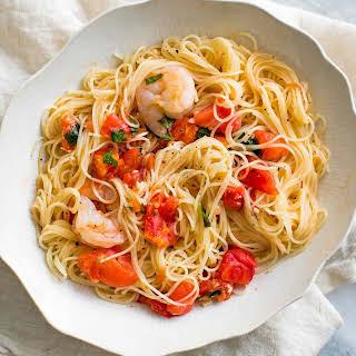 Pasta Pomodoro with Shrimp.