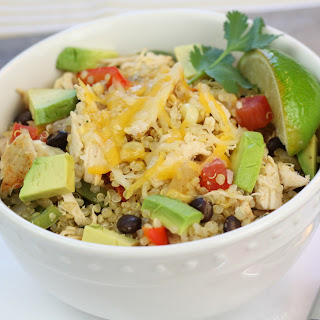Chicken Fajita Quinoa Burrito Bowls