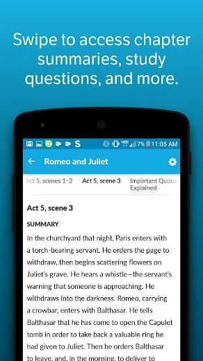 Screenshot 0 for SparkNotes's Android app'