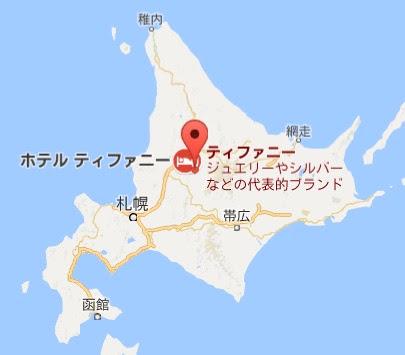 地図:レストラン ティファニー