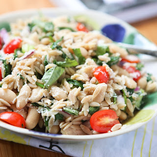 Tuna and Orzo Salad with Parmesan & Basil