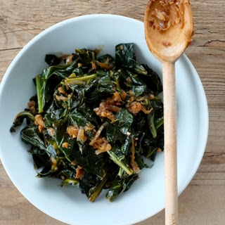 Collard Greens with Caramelized Onions.