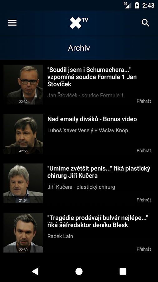 XTV.cz- screenshot