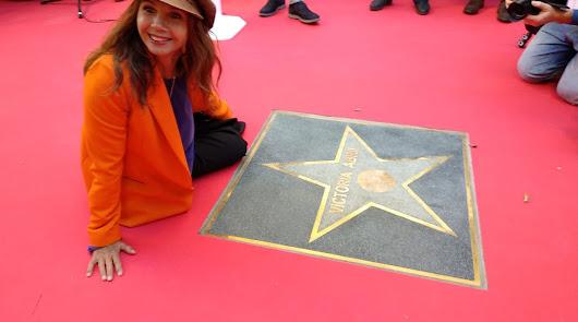 Victoria Abril ya tiene su estrella en el Paseo de la Fama