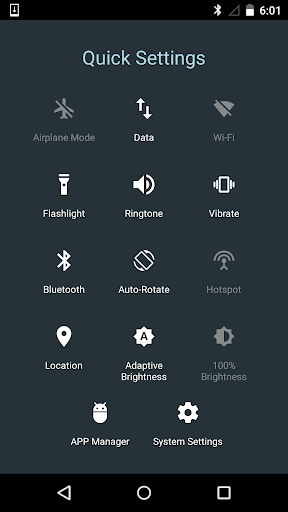 Quick Settings for Android