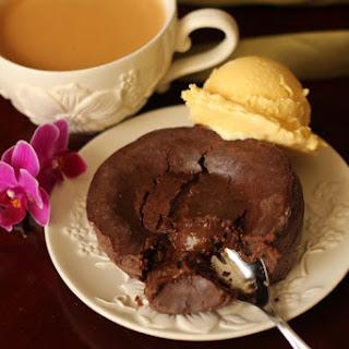 Molten Chocolate Cakes & Coffee Ice Cream