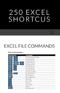 250 Excel shortcuts 4