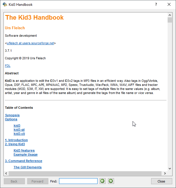 thumbapps.org kid3 portable, Handbook