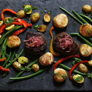 Espresso Spiced Filet Mignon and Seared Scallops Recipe