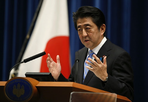 Japan's Prime Minister Shinzo Abe. Picture: REUTERS