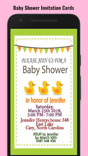 Baby Shower Invitation Maker screenshot 7