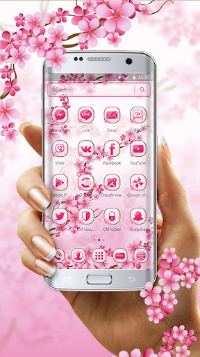 Cherry Blossom Launcher Theme 1.1.2 screenshots 1