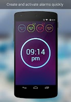 Screenshot of Neon Alarm Clock Free