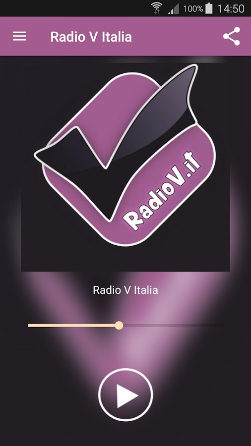 Radio V Italia App- screenshot