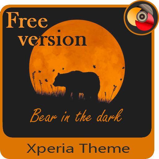 Orange moon | Xperia™Theme (Free version)