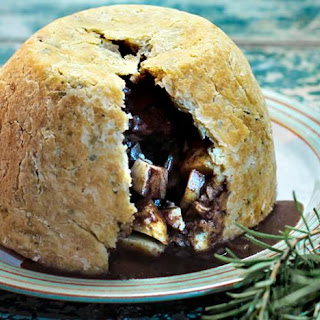 Lamb And Kidney Suet Pudding With Rosemary.
