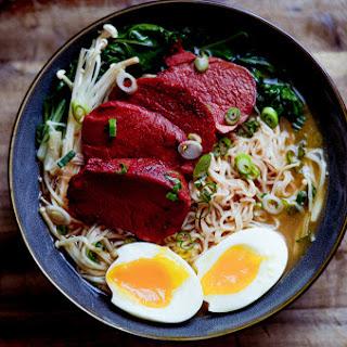 Miso Ramen With Char Siu Pork And Soft Boiled Egg.